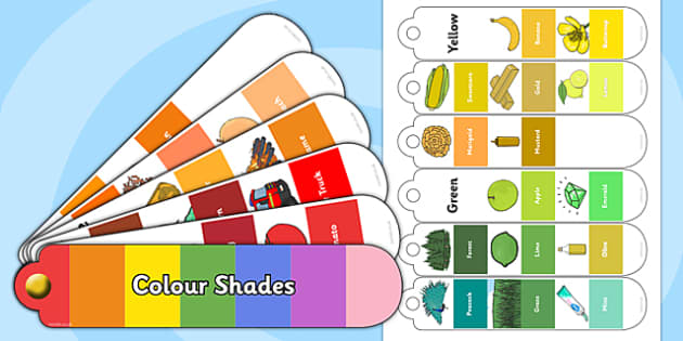 Colour Shades Fan Book - colour shades, colour, shades, colour wheel, colour theory, fan book