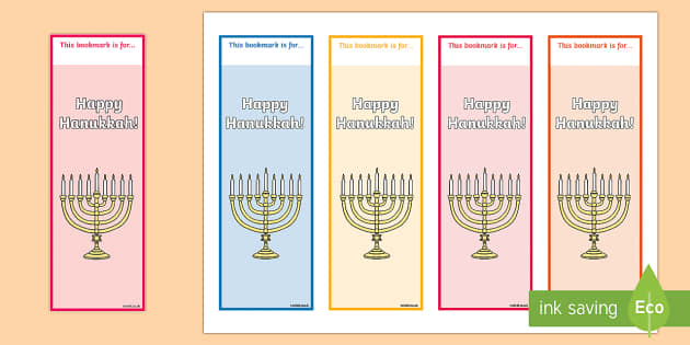 Hanukkah Themed Bookmarks - Hanukkah, Jew, Judaism, celebration, light, festival