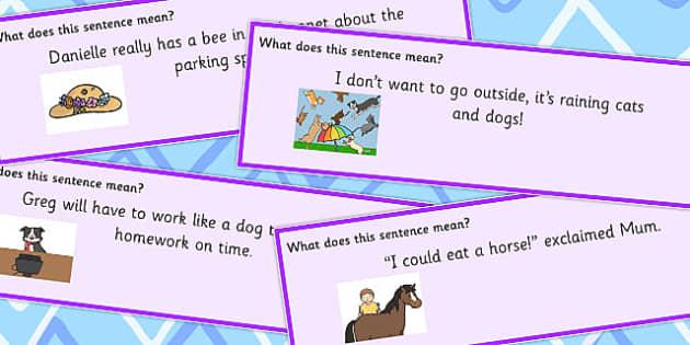 Animal Idioms Sentences - animal, sentences, idioms, sentence