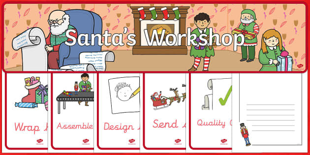 Santa's Christmas Workshop Themed Role Play Pack - christmas