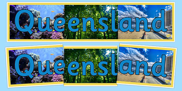 Queensland Display Banner - States and Territories, QLD, Queensland, display