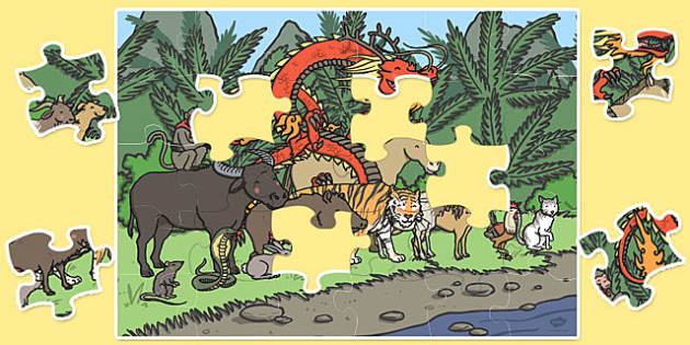 Giant Chinese New Year Jigsaw Puzzle - puzzles, jigsaws, activity
