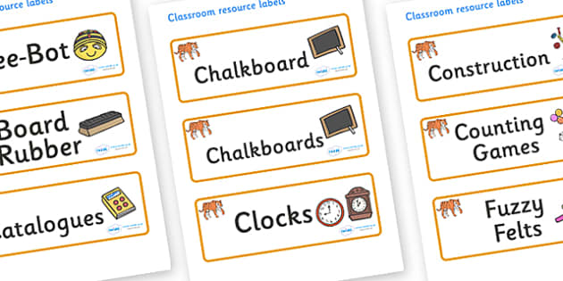 Tiger Themed Editable Additional Classroom Resource Labels - Themed Label template, Resource Label, Name Labels, Editable Labels, Drawer Labels, KS1 Labels, Foundation Labels, Foundation Stage Labels, Teaching Labels, Resource Labels, Tray Labels, Pr