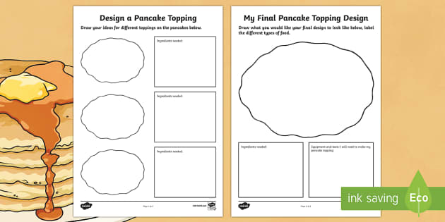 Designing a Pancake Topping Activity Sheet - pancake, activity, worksheet