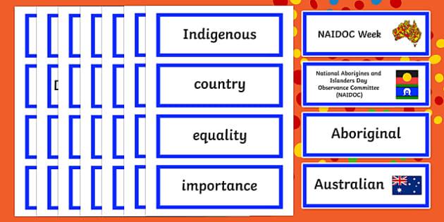 NAIDOC Week Word Cards