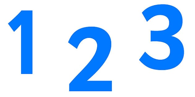 0-9 Display Numbers (Pure Blue) - Display numbers, 0-9, numbers, display numerals, display lettering, display numbers, display, cut out lettering, lettering for display, display numbers