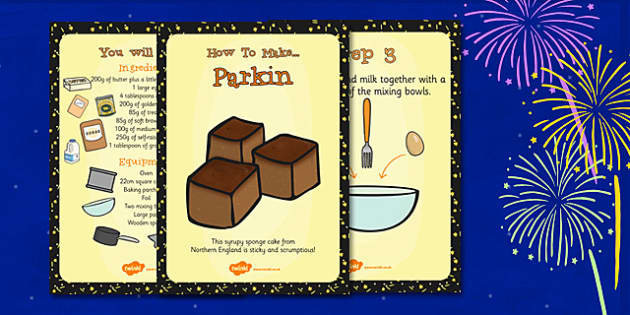 Parkin Recipe Cards - Parking, Recipe, Cards, Sponge, Cake