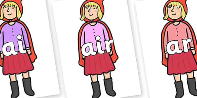 Phase 3 Phonemes on Red Riding Hood to Support Teaching on The Jolly Christmas Postman - Phonemes, phoneme, Phase 3, Phase three, Foundation, Literacy, Letters and Sounds, DfES, display