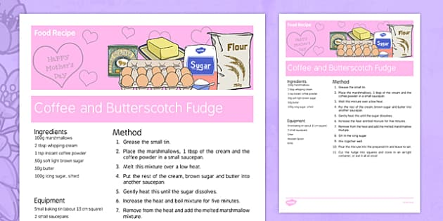 Mother's Day Coffee and Butterscotch Fudge Recipe - australia, Mother's Day, cooking, recipes, procedure, food, coffee and butterscotch, fudge, reading