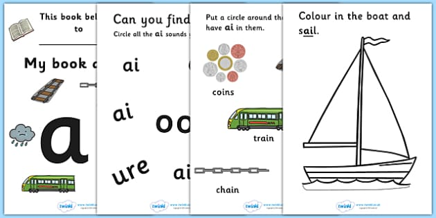 My Phase 3 Digraph Workbook (ai) - Digraph Formation, Phase 3, phase three, digraphs, handwriting, letter formation, writing practice, foundation, letters, writing, learning to write, DFES letters and sounds