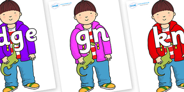 Silent Letters on Harry to Support Teaching on Harry and the Bucketful of Dinosaurs - Silent Letters, silent letter, letter blend, consonant, consonants, digraph, trigraph, A-Z letters, literacy, alphabet, letters, alternative sounds