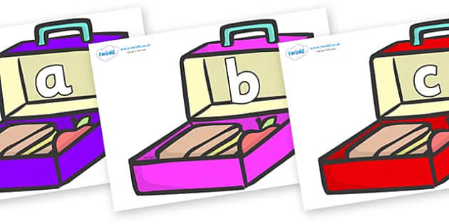 Phase 2 Phonemes on Lunchboxes (Multicolour) - Phonemes, phoneme, Phase 2, Phase two, Foundation, Literacy, Letters and Sounds, DfES, display
