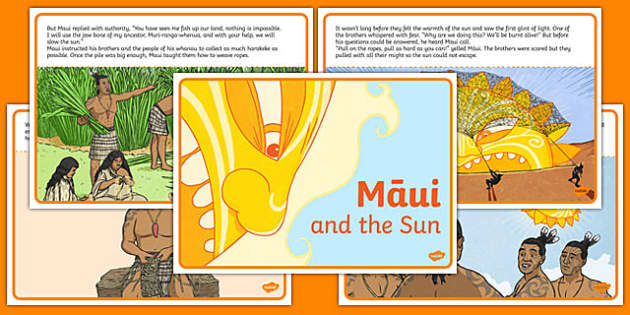 Māui and the Sun Story Cards