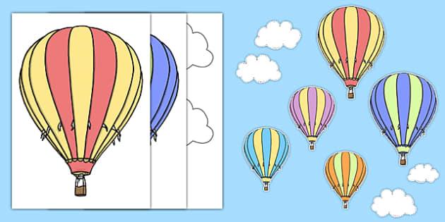 Hot Air Balloon Themed Wall Decals - transport, wall decals, display, images, decals,trasnport,trasport, hot air balloons