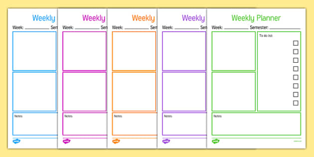 Weekly Teacher Planner - usa, america, weekly planner, planner, teachers planner, planning, organisation, to do list, check list, list, planning tasks, lesson plan