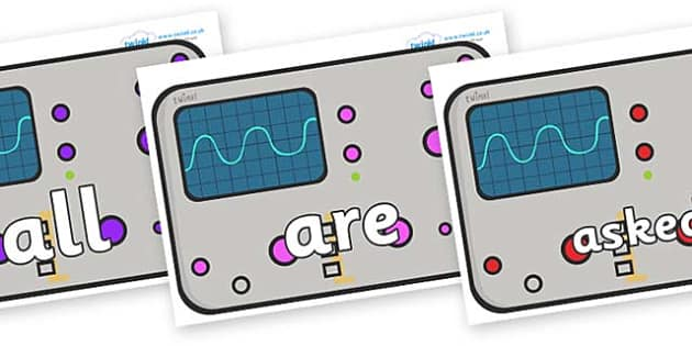 Tricky Words on Scientific Equipment - Tricky words, DfES Letters and Sounds, Letters and sounds, display, words