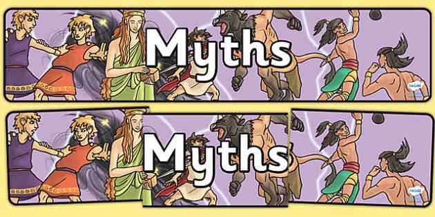 Myths Display Banner - myths, display banner, display, banner, legends