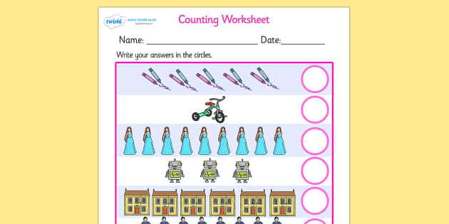 My Counting Activity Sheet (Toys) - Counting worksheet, Toys, counting, activity, how many, foundation numeracy, counting on, counting back, robot, doll, skateboard, games console, dice, jigsaw, games, dominos, marbles, pogo, doll