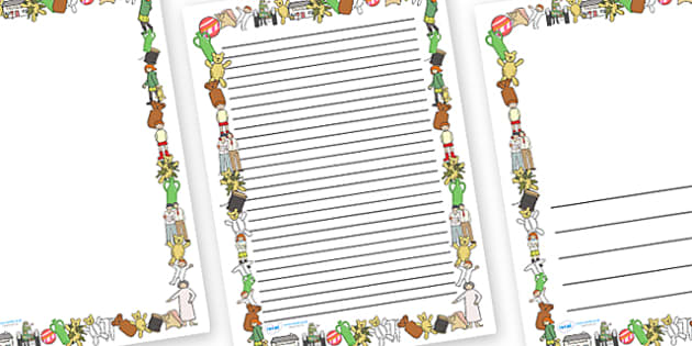 Page Borders to Support Teaching on Katie Morag and the Tiresome Ted - Katie Morag, page border, writing template, writing aid, Mairi Hedderwick, story, fine motor skills, scotland, scottish, book, resources, story book
