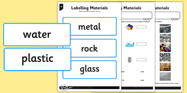 Labelling Materials Activity Sheet - labelling, materials, activity, sheet, worksheet