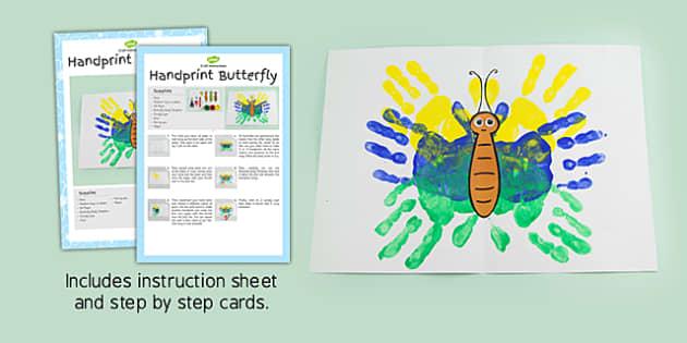 Handprint Butterfly Craft Instructions - butterfly, craft, handprint, instructions