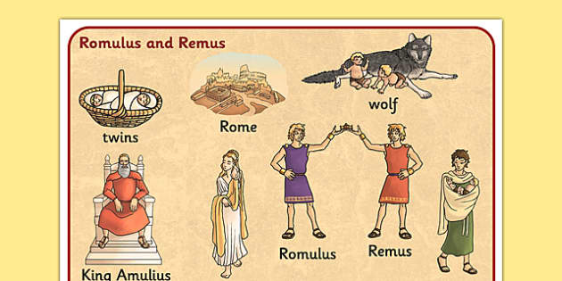 Romulus and Remus Word Mat - romans, myths, roman, keywords