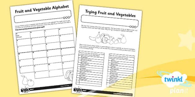 PlanIt D&T KS1 Sensational Salads Unit Home Learning Tasks - dt