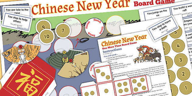 One More Than Chinese New Year Board Game - board game, game