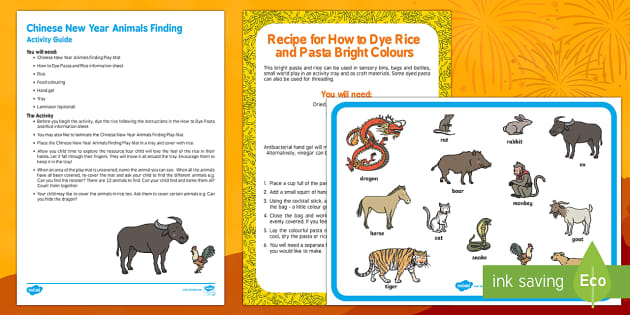 Chinese New Year Animals Finding Busy Bag Resource Pack for Parents - Chinese New Year, animals, baby, babies, sensory play
