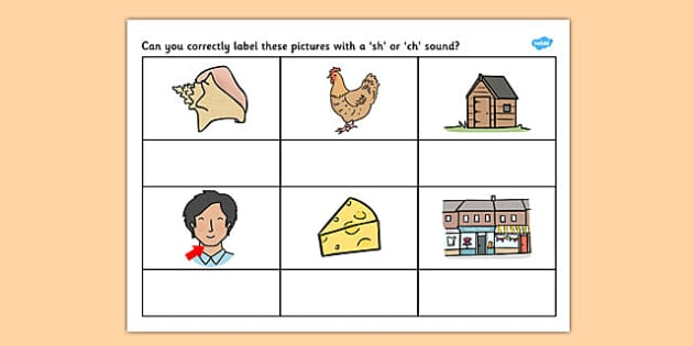 SH or CH Sound Worksheet -worksheets, worksheet, work sheet, sheets, sounds, SH, CH, SH sound, CH sound, sounds and letters, activity, writing frame, filling in, writing activity