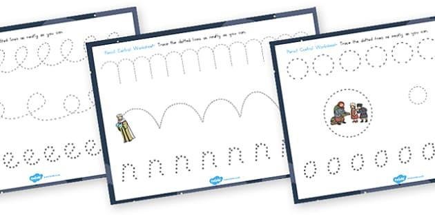 Babushka Pencil Control Sheets - australia, babushka, pencil