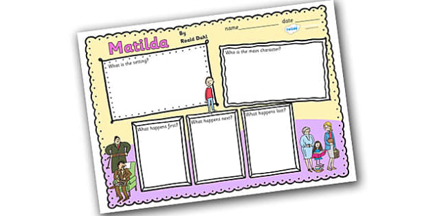 Book Review Writing Frame to Support Teaching on Matilda - matilda, book review writing frame, writing frames, matilda writing frames, matilda book review
