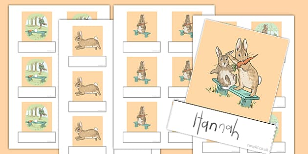 Beatrix Potter - The Story of a Fierce Bad Rabbit Editable Self Registration - beatrix potter, fierce, bad, rabbit