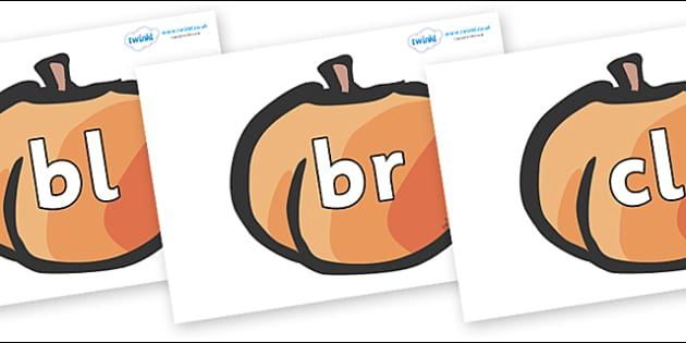 Initial Letter Blends on Peaches - Initial Letters, initial letter, letter blend, letter blends, consonant, consonants, digraph, trigraph, literacy, alphabet, letters, foundation stage literacy