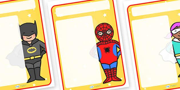 Superheroes Themed Target Posters - superheroes, superheroes themed, target posters, targets, class targets, themed targets, class management, posters