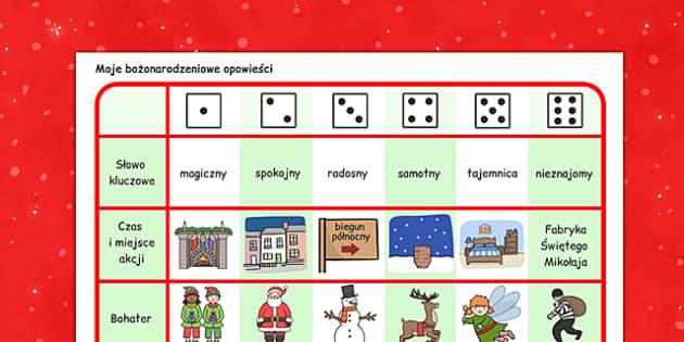 Gra planszowa z kostką Boże Narodzenie po polsku - opowieści