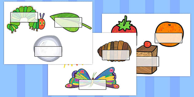 Self Registration to Support Teaching on The Very Hungry Caterpillar - The Very Hungry Caterpillar,  Eric Carle, resources, Hungry Caterpillar, life cycle of a butterfly, days of the week, food, fruit, story, story book, story book resources, story s