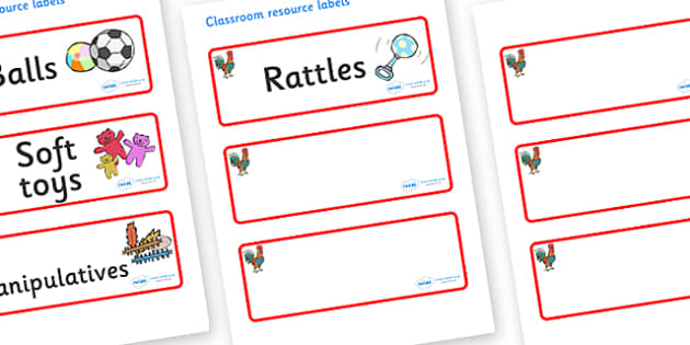 Rooster Themed Editable Additional Resource Labels - Themed Label template, Resource Label, Name Labels, Editable Labels, Drawer Labels, KS1 Labels, Foundation Labels, Foundation Stage Labels, Teaching Labels, Resource Labels, Tray Labels, Printable