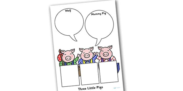 The Three Pigs Role on the Wall Worksheets - the three pigs, role on the wall, worksheets, the three pigs worksheet, role on the wall worksheets