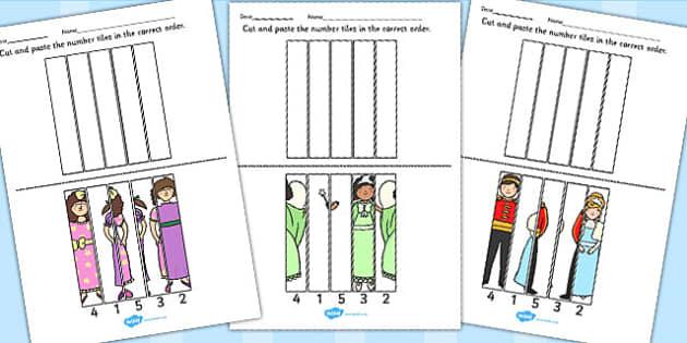 Cinderella Number Sequencing Puzzle - cinderella, number, puzzle