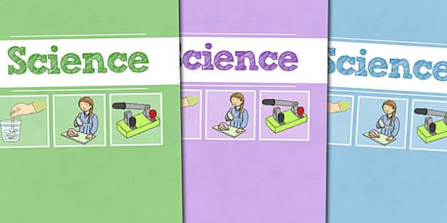 A4 Science Divider Covers - A4 Science Divider Covers, Science Divider Covers, Divider Covers, Science