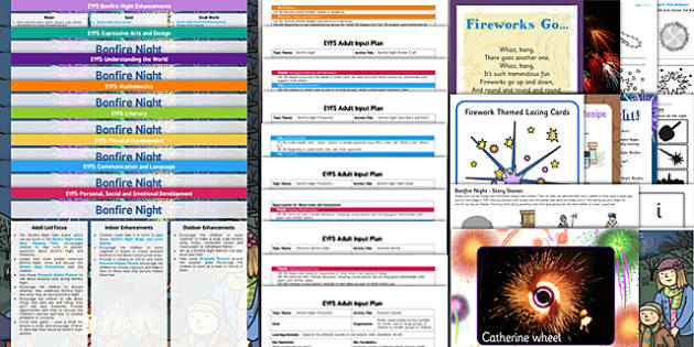 EYFS Bonfire Night Themed Lesson Plan Enhancement Ideas and Resources Pack - eyfs, bonfire night