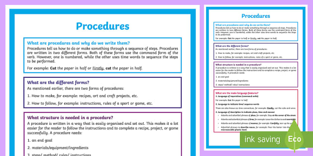 What is a Procedure? A4 Display Poster-Australia - Literacy, What is a Procedure?  A4 Display Poster, procedure, english, year 1, year 2, year 3, year