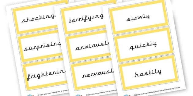 Thunder Adverbs Cards - Weather Literacy Primary Resources,Weather,Primary,Literacy,Words