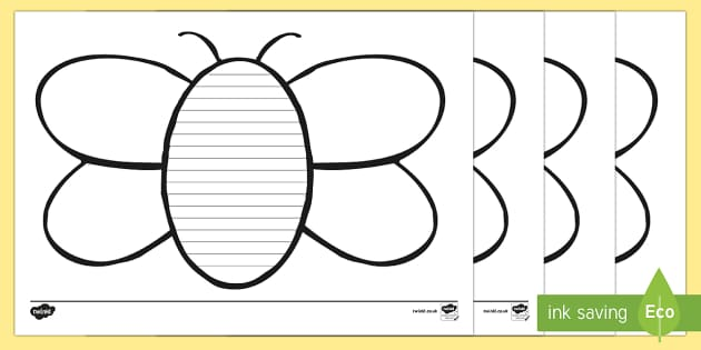 Bee Writing Frames