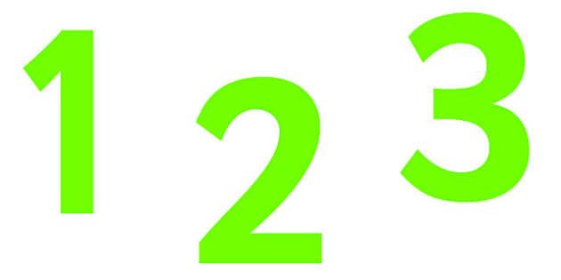 0-9 Display Numbers (Pure Green) - Display numbers, 0-9, numbers, display numerals, display lettering, display numbers, display, cut out lettering, lettering for display, display numbers