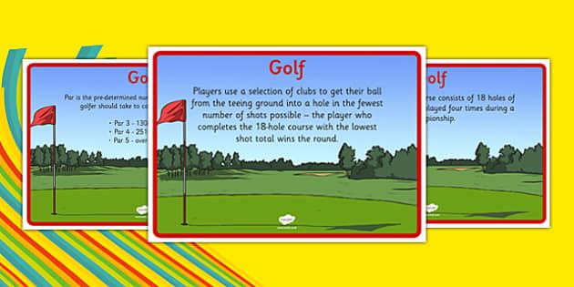 Rio 2016 Olympics Golf Display Facts - rio 2016, 2016 olympics, rio olympics, golf, display facts