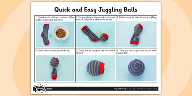 Activity Sheet Quick and Easy Juggling Balls - activity, juggling, worksheet