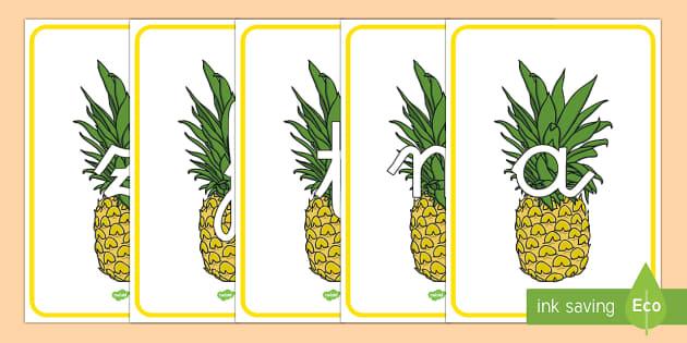Tarjetas de fonemas: Piñas - lecto, leer, primeros sonidos, comida,Spanish