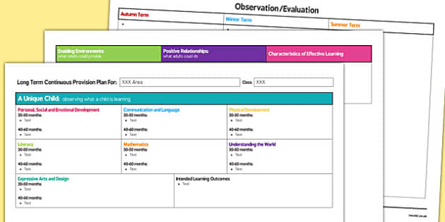 Continuous Provision Plan Template - continuous provision, plan